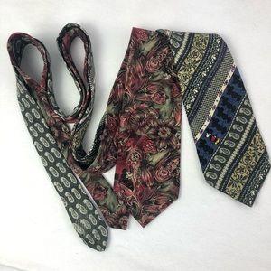Disney ties set of 2 vintage 100% silk